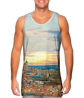 Amazon.com: Yizzam- Toledo Skyline Spain Panorama -Tshirt ...