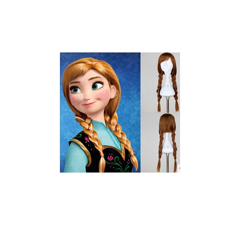 Frozen - Peluca anna gran calidad (niño-adulto): Amazon.es: Juguetes y juegos