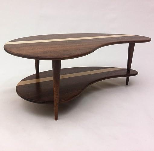 Amazoncom Mid Century Modern Coffee Cocktail Table Solid Walnut