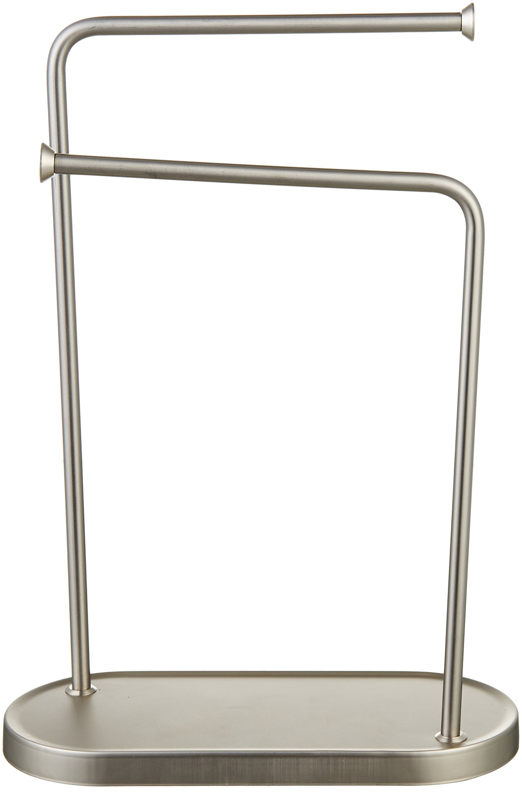 AmazonBasics Double-L Hand Towel Holder and Accessories Stand, Silver Nickel by AmazonBasics