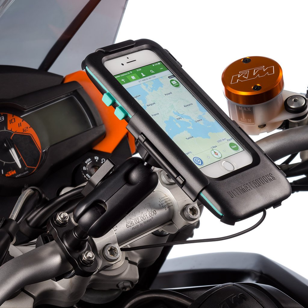 Ultimateaddons Motorcycle U-Bolt 3'' Extended Mount + Tough Case for Apple iPhone 7 4.7 + Hardwire Kit by Ultimate Addons (Image #3)