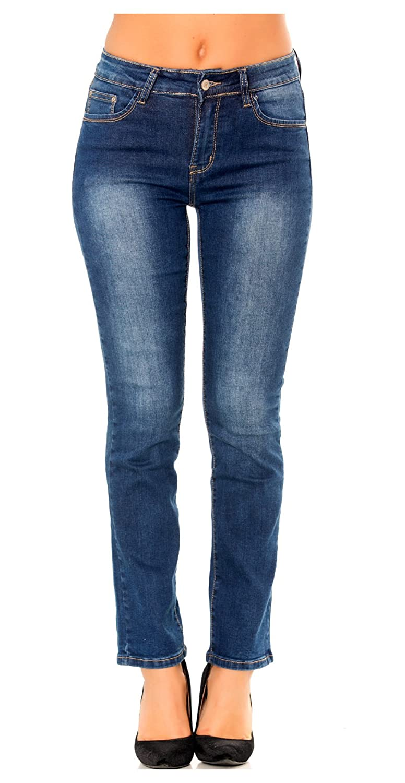 Nina Carter Mujer Vaqueros Slim, Skinny, Bootcut, Straight o Boyfriend Pantalones Jeans Denim Azul Talla 34 a 42