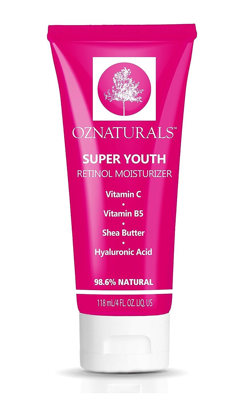 OZ Naturals Idratante al retinolo - Miglior crema al retinolo anti invecchiamento, anti rughe, naturale al 98%, 4 fl. oz OZNaturals