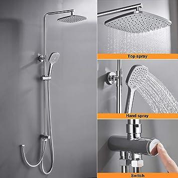 Sistema de ducha sin grifo, juego de ducha Wookse; ducha de lluvia ...