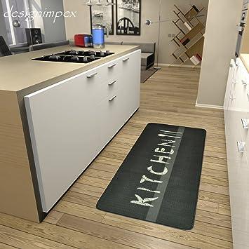 Küchenläufer Küchenmatte Läufer Küchenteppich Kitchen Grau KL-12 ...
