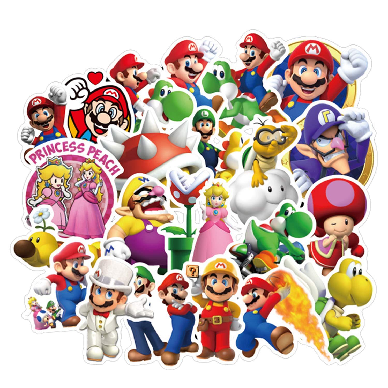 Stickers Calcos 100 un. Super Mario Origen U.S.A. (7RRKJP4X)