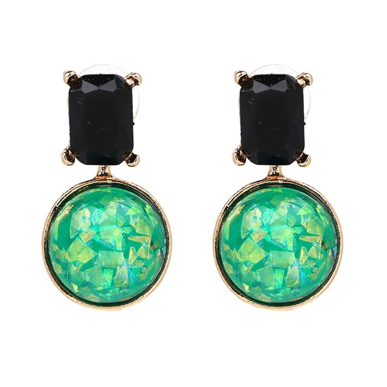 JURAN Simple Crystal Detachable Statement Earrings 2019 New Design Round Ear Drop Earrings