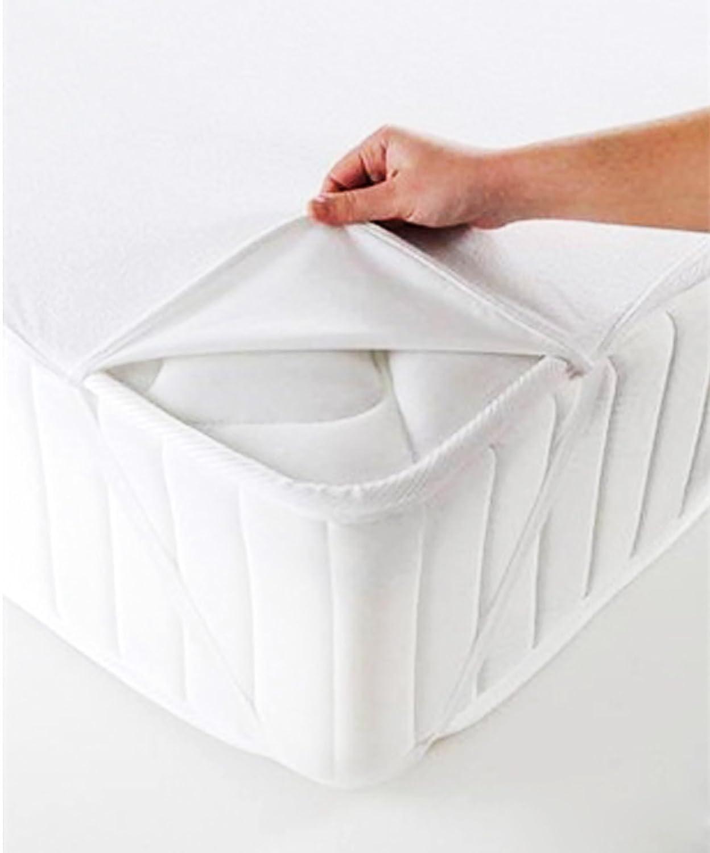 Protector de colchón resistente al agua, algodón, Blanco (70 cm x 140 cm): Amazon.es: Hogar