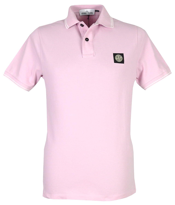 Stone Island - Polo - para hombre rosa rosa Small: Amazon.es: Ropa ...