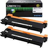 LINKYO Replacement for Brother TN660 TN-660 TN630 TN-630 Toner Cartridge (Black, High Yield, 2-Pack)
