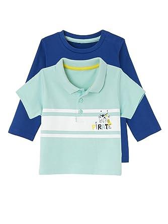 VERTBAUDET Lote de 2 Camisetas y Polo para bebé niño Azul Oscuro ...