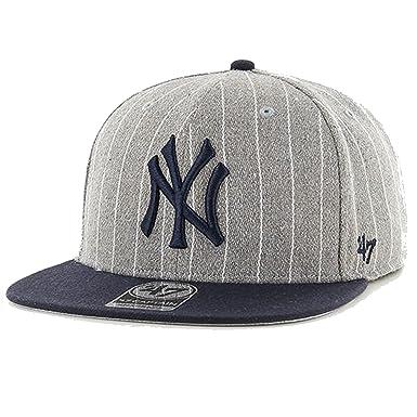 47 Men s New York Yankees Adjustable Snapback Cap Hat (Gray) at Amazon  Men s Clothing store  3da446191af