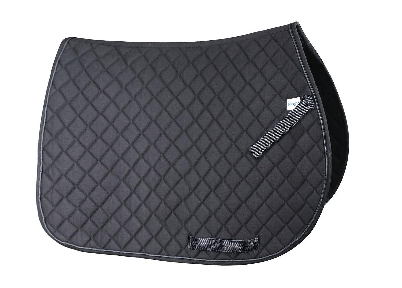 Black Perri's Leather Everyday Saddle Pad