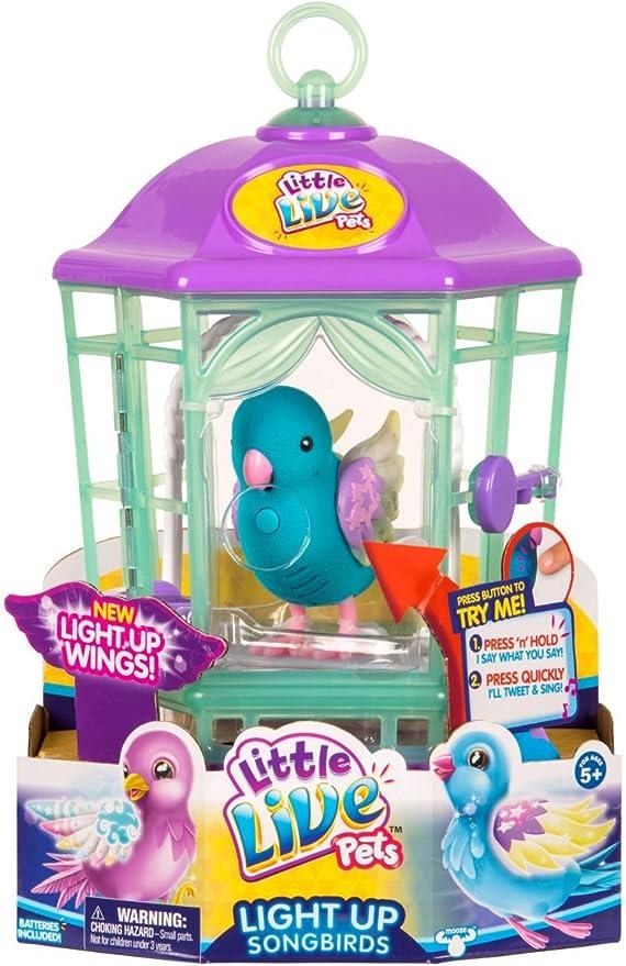 los Estilos Pueden Variar, Colores Cesta para p/ájaros con Luces little live pets 28624