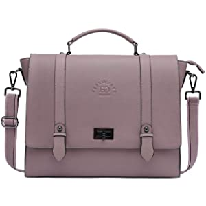 Briefcase for Women, 15.6 Inch Laptop Bag Business Work Bag Crossbody Bags College Satchel Purse with Professional Padded Compartment for Tablet Notebook Ultrabook, Purple