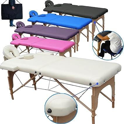 Lettino Da Massaggio Ad Acqua.Lettino Da Massaggio Lettini Per Massaggi 2 Zone In Legno Portatile