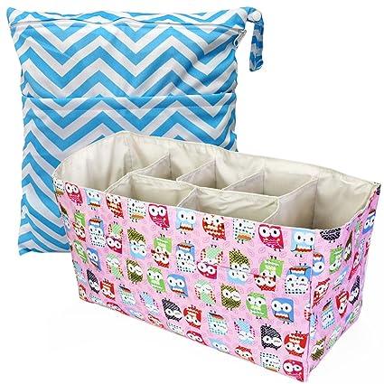 Del bebé KF bolsa de pañales bolsa para la compra de papel en forma de organizador