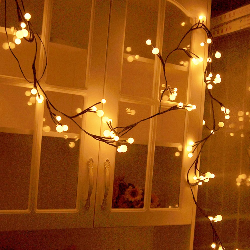 YINGXIANG 8.2Ft Globe String Light,UL Listed String Lights, Hanging Indoor/Outdoor Decorative String Light for Garden,Wedding,Xmas Party,Patio, Backyard,Cafe,Party,Bedroom,Tapestry(Warm White)