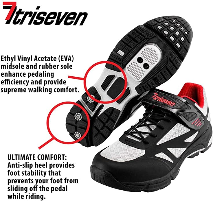 Green Leather Details about  /NEW TriSeven Men/'s Mountain MTB Shoe in Blue Black 13