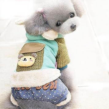 PLHF Vestiti per cani Stile britannico Spesso caldo Abbigliamento invernale  Abbigliamento a quattro zampe Teddy Vestiti db4e0432f02