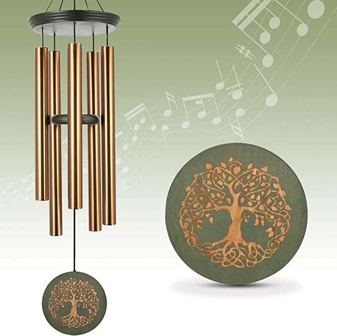 31 Inch Sympathy Wind Chimes with Eight Temple Bells Garden Spiral Wind Chimes for Outside Porch Great as Melody Memorial Gift and Outdoor Feng Shui D/écor for Patio