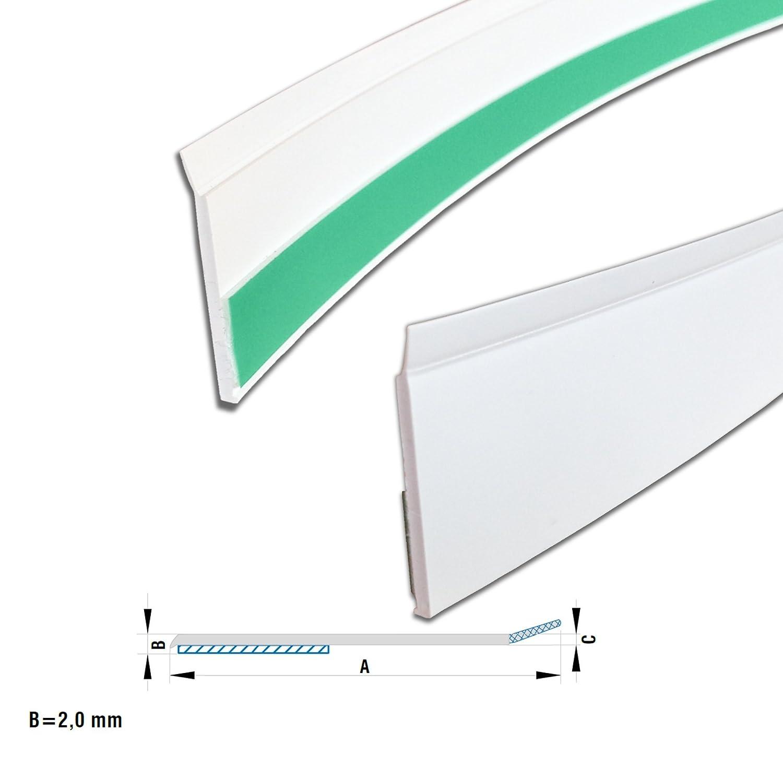 Großartig Kunststoff Abdeckleiste/ Fensterleiste mit Dichtlippe 20 mm in  MC03