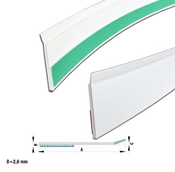 Kunststoff Abdeckleiste Fensterleiste Mit Dichtlippe 25 Mm In Weiss