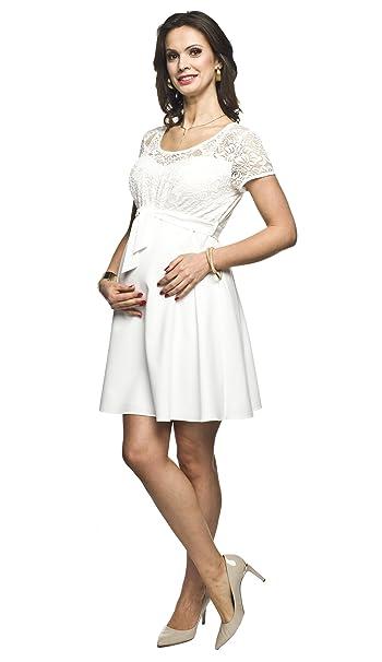 Elegantes und bequemes Umstandskleid, Brautkleid, Hochzeitskleid für Schwangere Modell: SANTIA