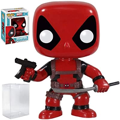 Funko Pop! Marvel Heroes: Deadpool #20 Vinyl Figure (Bundled with Pop Box Protector CASE): Toys & Games
