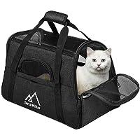 Terra Hiker Bolsa de Transporte para Perros/Gatos, Dimensiones de ensanchamiento, 45 cm x 25 cm x 30 cm, Transportadoras para Mascotas, Aprobado por Compañías Aéreas (Negro-1)