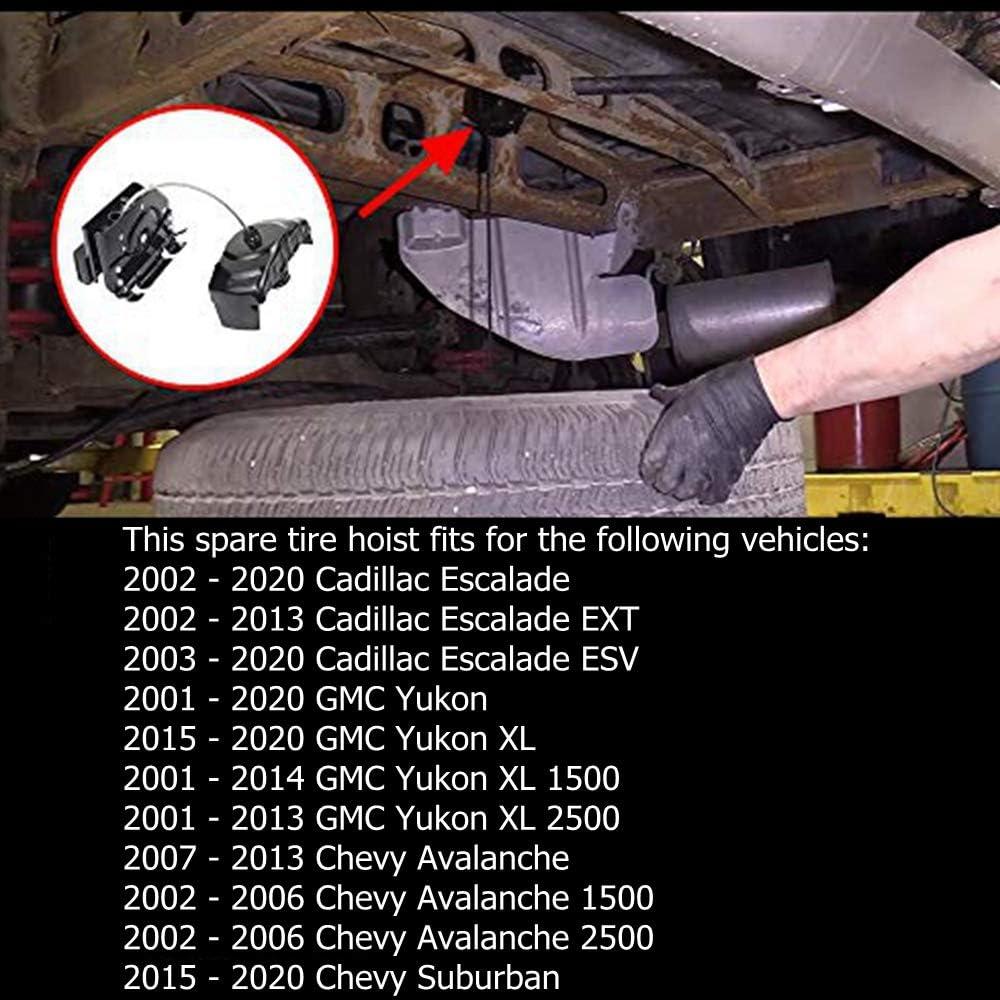 Automotive Spare Tire Carriers WEILEITE 924-517 Spare Tire Hoist ...