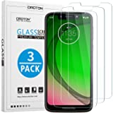 OMOTON [3 Pack Compatible with Moto G7 Play Screen Protector Tempered Glass with [2.5D Round Edge] [9H Hardness] [Crystal Clarity] [Scratch-Resistant] [No-Bubble]