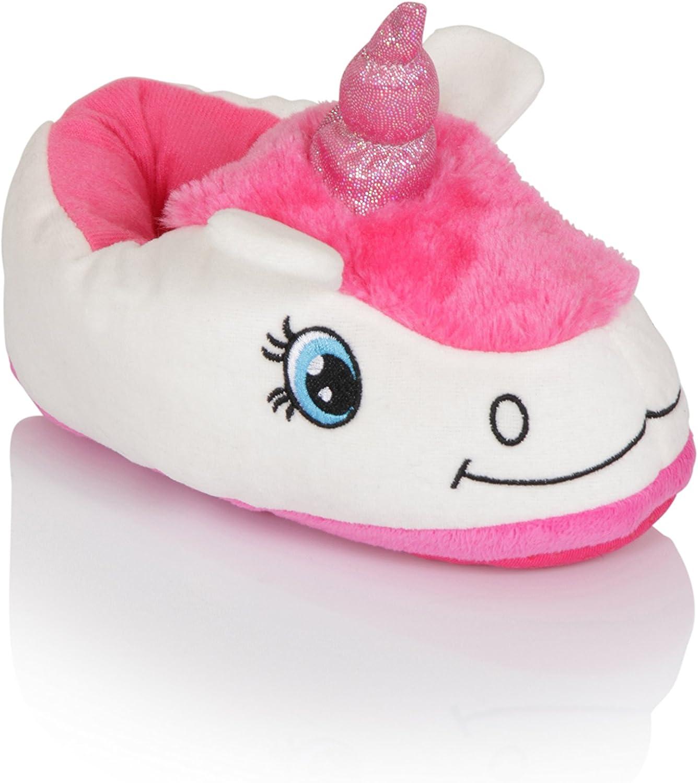 Novelty Unicorn Slippers by Martildo Womens Childrens Fun Plush Gift Soft Warm Cosy Footwear