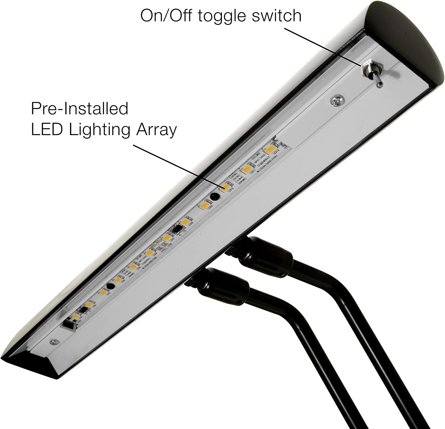 12 LED Piano Desk Lamp with Dimmer - Oil Rubbed Bronze Bronze