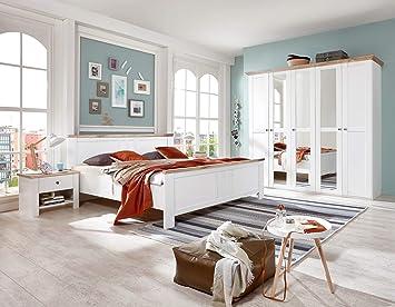 PEGANE Chambre Adulte complète Coloris Blanc, rechampis ...