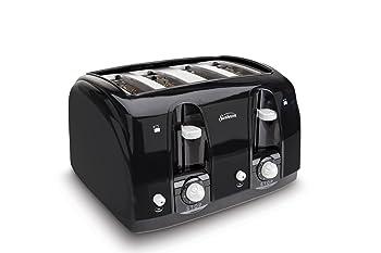 Sunbeam Wide Slot Black 4-Slice Toaster