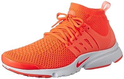 NIKE Men's Air Presto Flyknit Ultra Ttl Crmsn/Ttl Crmsn White Pnk Running  Shoe 10.5