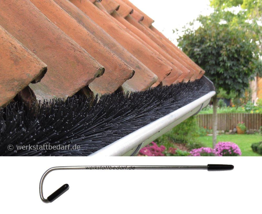 inkl Dachrinnenb/ürste 5 Meter /Ø 15cm 3 Sicherungsklammern gegen Sturm und Wind