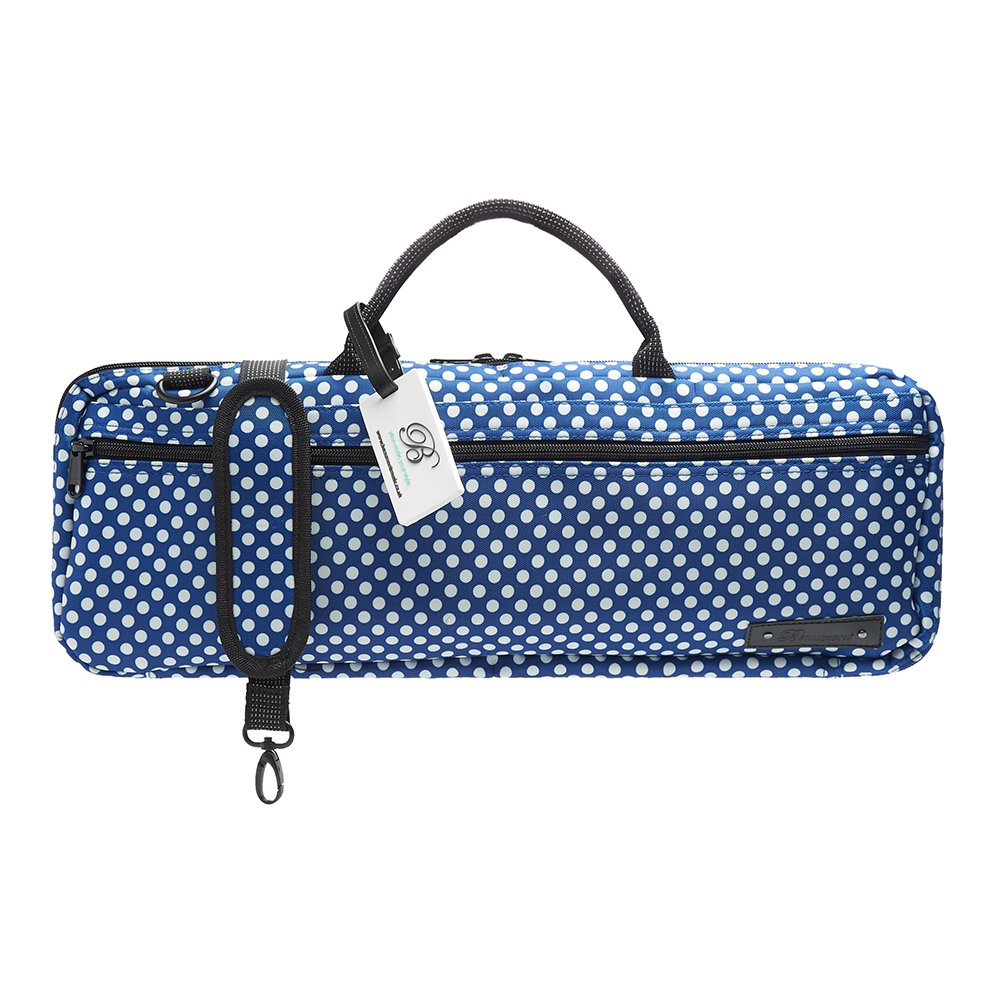 Beaumont B-Foot Flute Bag Case Cover - Blue Polka Dot BFBB-BP