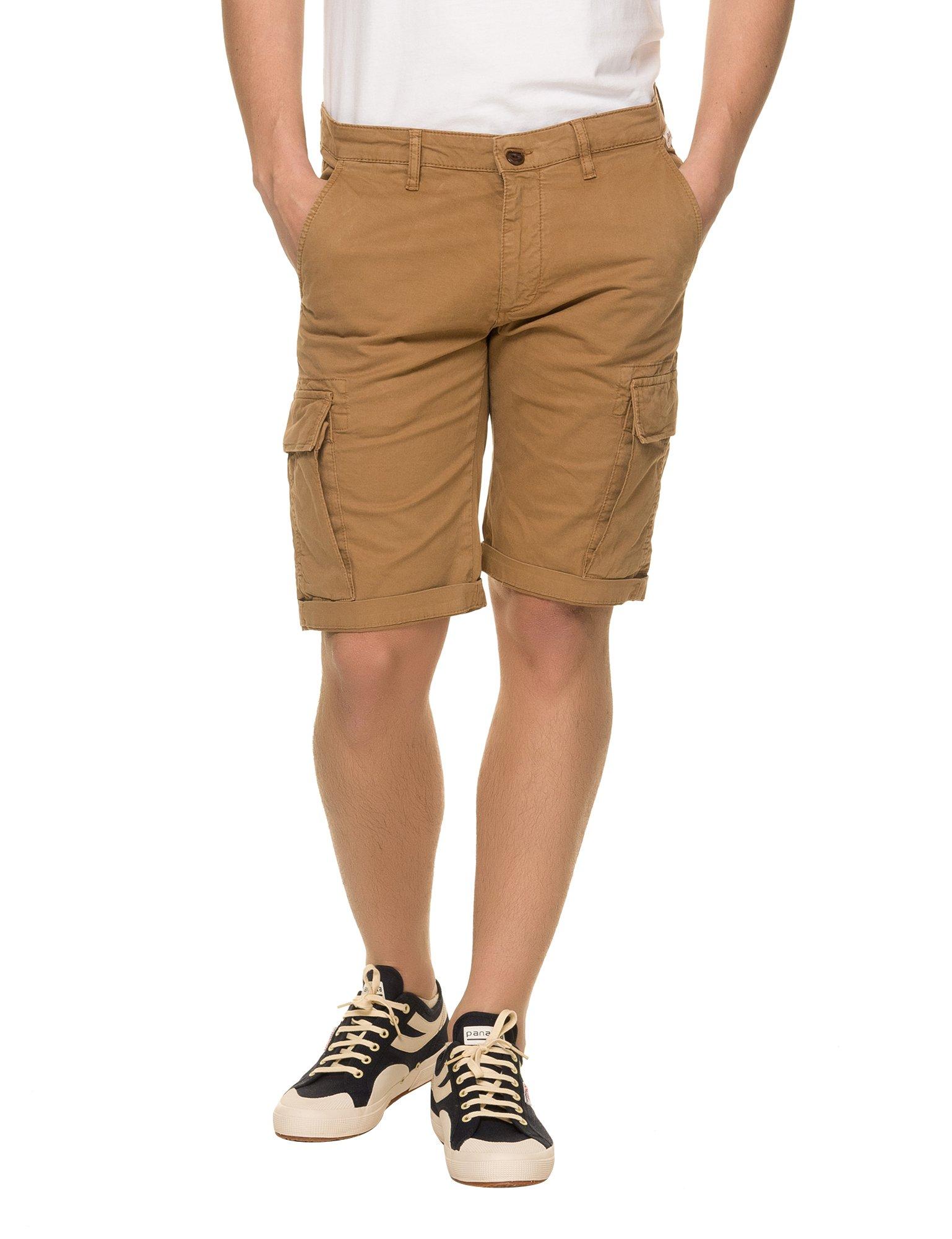Franklin & Marshall Men's Men's Beige Gabardine Shorts in Size 30 Beige