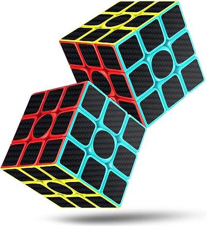 New Rubix Cube Speed Cube 3x3x3 5.7 Black Smooth Magic Carbon Fiber Sticker