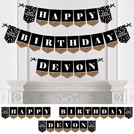 Amazon Big Dot Of Happiness Custom Adult Happy Birthday