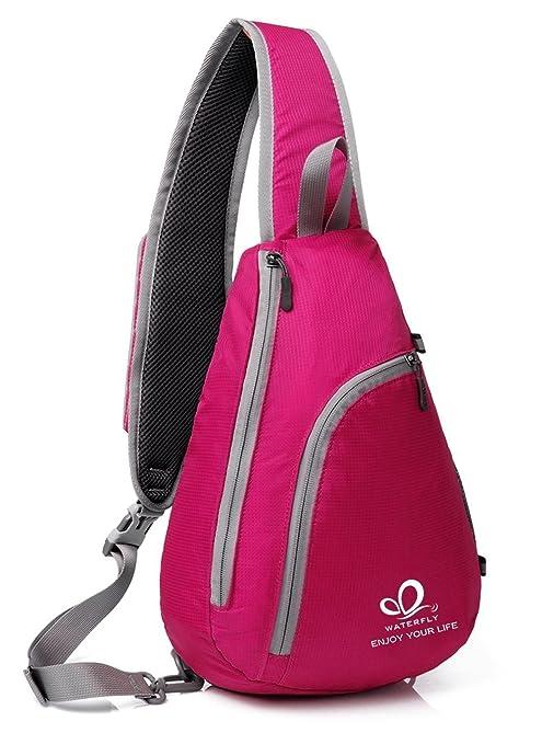 0698ba34e1 Waterfly Zaino Monospalla Uomo e Donna, Monospalla Multiuso Zaino Tracolla  Sling Bag per Escursionismo,