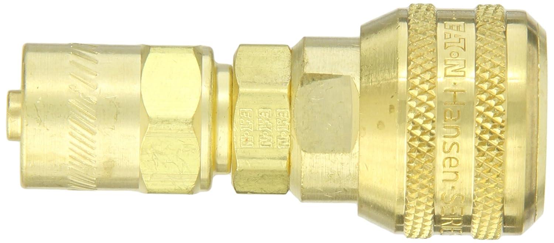 1//4 Body 1//4 Hose ID Eaton Hansen 3SB7 Brass ISO-B Interchange Pin Lock Pneumatic Fitting 5//8 Hose OD Socket