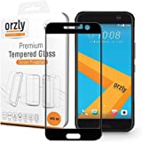 Orzly® - 2.5D Pro-Fit Tempered Glass Screen Protector for HTC 10 (2016 Model) - Full Cover Screen Guard - BLACK
