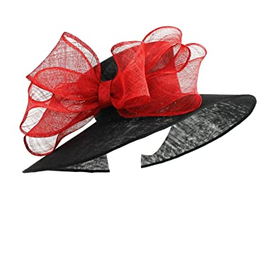 dfae0f8defc8e Hats By Cressida Black and Red Ascot and Wedding Hat  Amazon.co.uk  Clothing