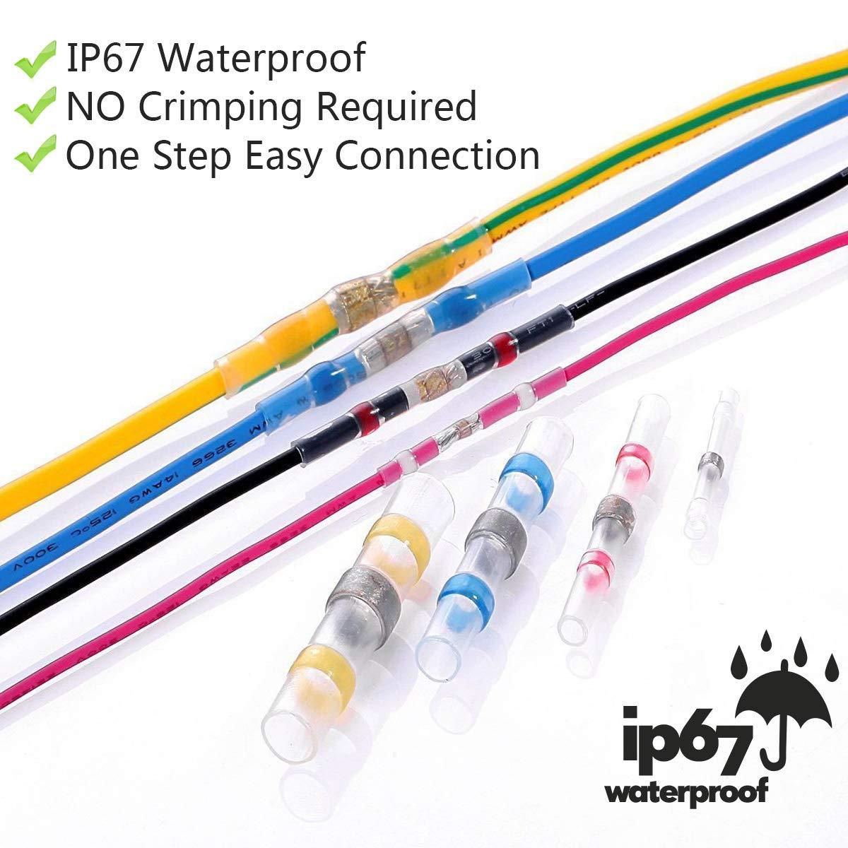 220PCS Solder Seal Wire Connectors - Sopoby Heat Shrink Connectors on