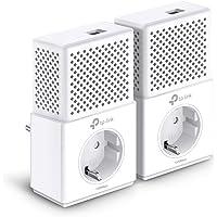 TP-Link TL-PA7010P Kit AV1000 Gigabit Powerline Netzwerkadapter (1000Mbit/s, Gigabit Port, Steckdose, Ideal für HDTV, energiesparend, Plug & Play, 2er Set)