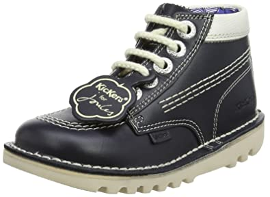 a120f6c36 Amazon.com  Kickers Infant for Joules Navy Leather Hi Ankle Boots ...