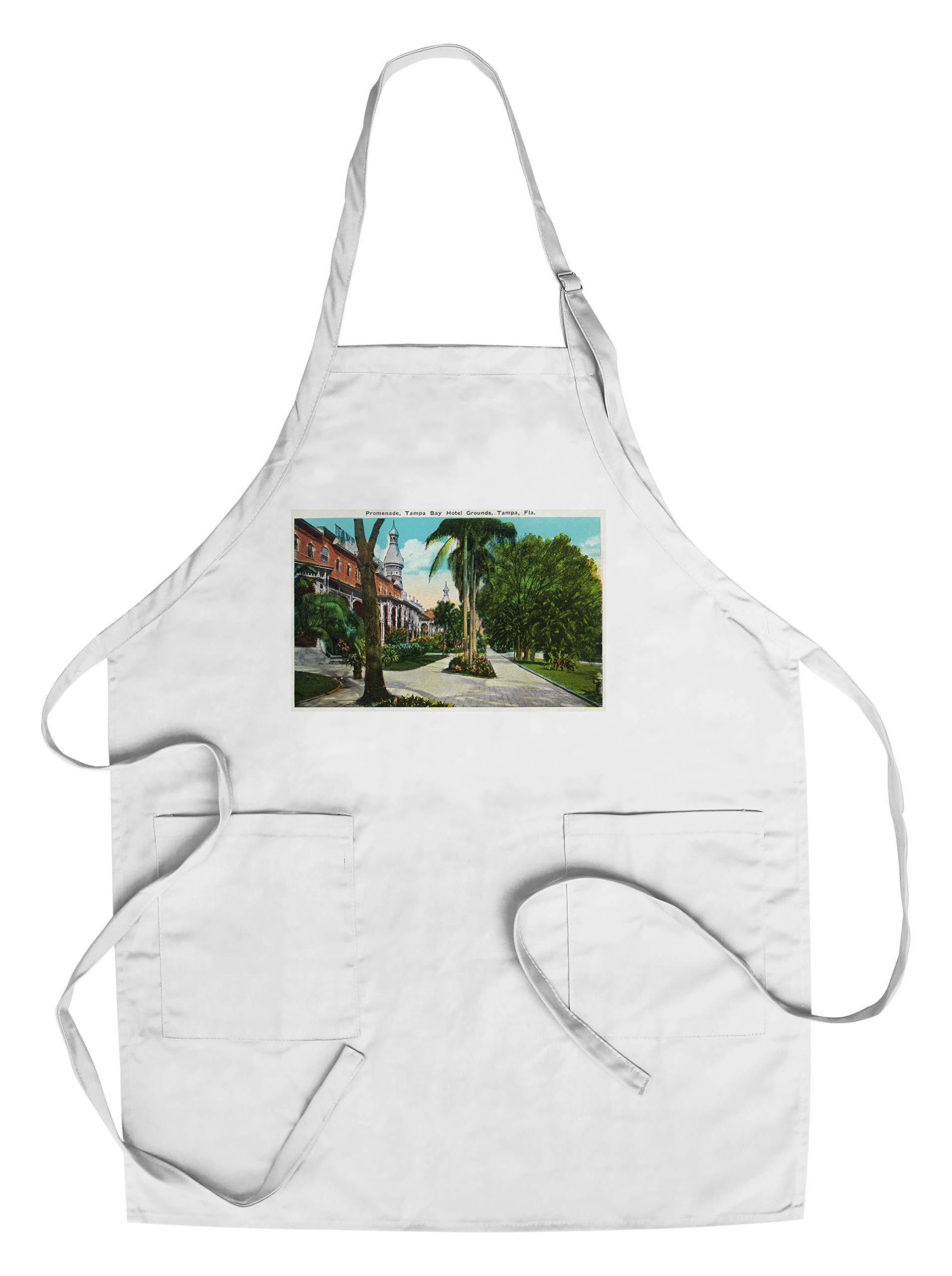 Tampa, Florida - Tampa Bay Hotel Promenade Scene (Cotton/Polyester Chef's Apron)
